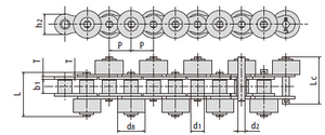 Conveyor Chains with Outboard Rollers